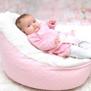 Babzsákfotel babáknak, kisgyermekeknek